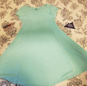 Teal short sleeve dress